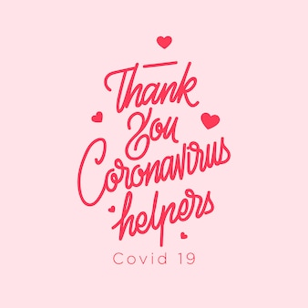 Bedankt coronavirus-helpers covid 19