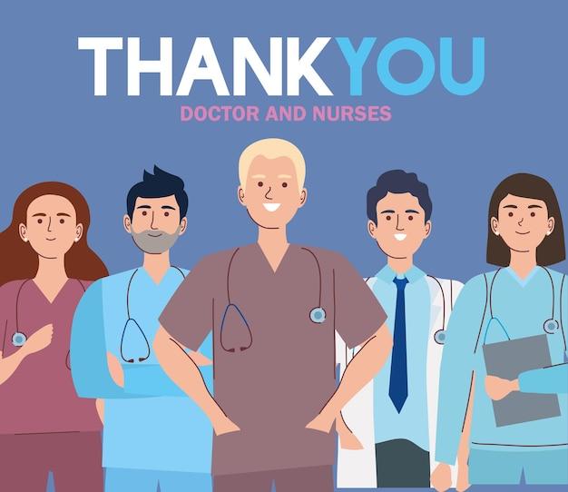 Bedankt dokter en verpleegkundigen