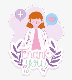Bedankt dokter vrouw