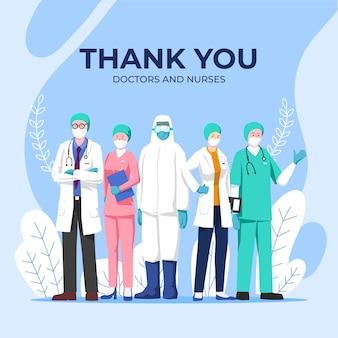 Bedankt dokters en verpleegsters