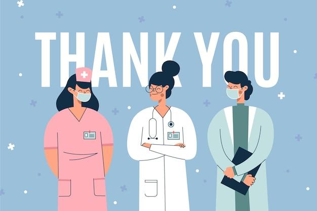 Bedankt dokters voor het redden van levens