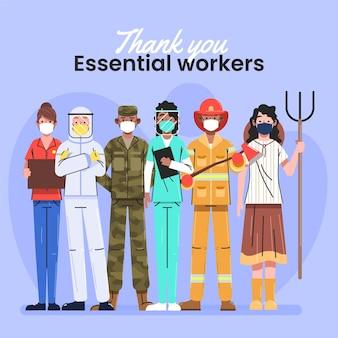 Bedankt essentiële werknemers