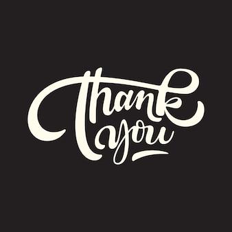 Bedankt handschrift