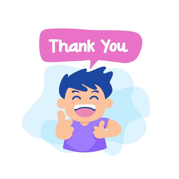 Bedankt met karakter vector