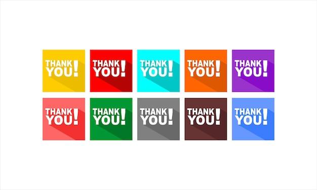 Bedankt set logo design collection