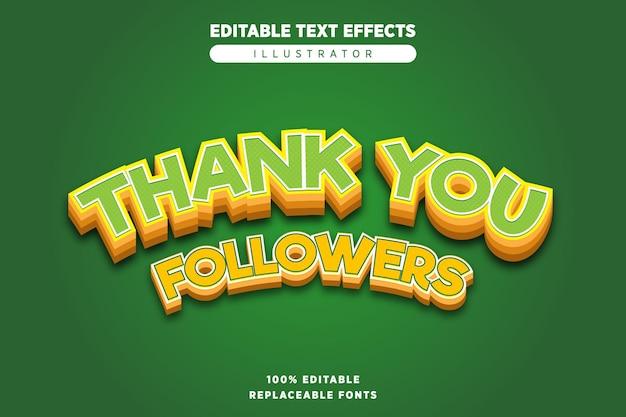 Bedankt teksteffect bewerkbaar