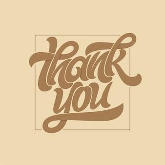 Bedankt typografie