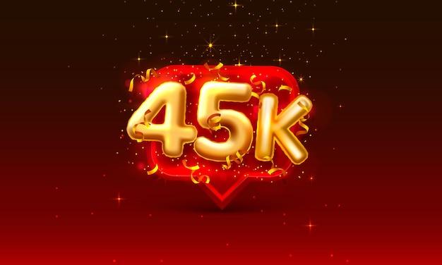 Bedankt volgelingen volkeren, 45k online sociale groep