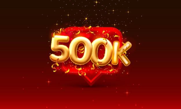 Bedankt volgelingen volkeren, 500k online sociale groep