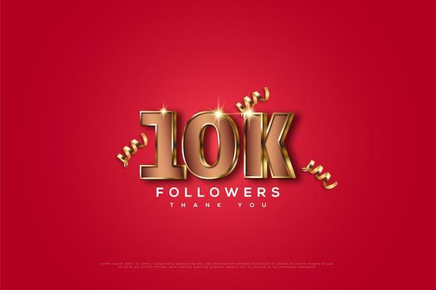 Bedankt voor 10.000 volgers Premium Vector
