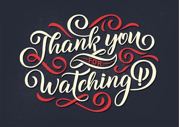 Bedankt voor het kijken naar letters