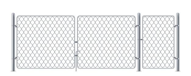 Bedrade hekwerk of kettingschakel metalen constructie voor concert stalen barrière voor