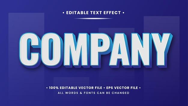 Bedrijf 3d-tekststijleffect. bewerkbare illustrator tekststijl.