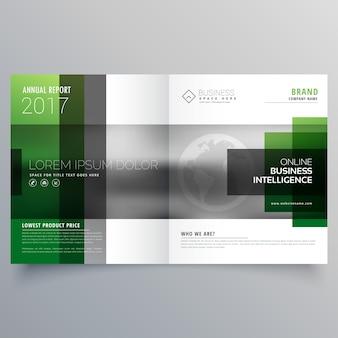 Bedrijf bifold folder brochure brochure of magazine cover pagina ontwerp vector sjabloon