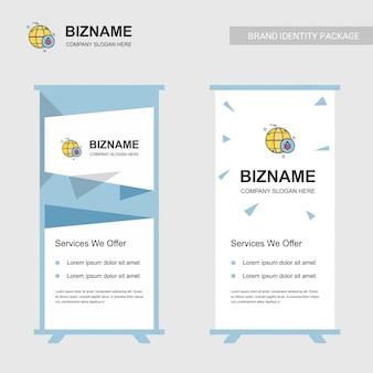 Bedrijf bill board design met bug logo vector