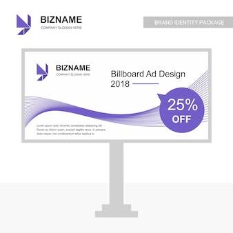 Bedrijf bill board ontwerp met creatief ontwerp vector