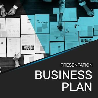 Bedrijf businessplan sjabloon social media post