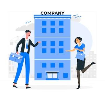 Bedrijf concept illustratie