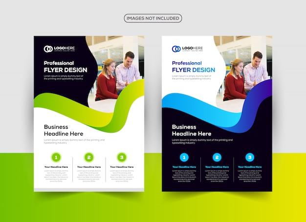 Bedrijf flyer ontwerpsjabloon