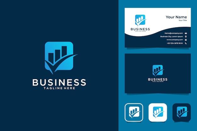 Bedrijf groeien logo-ontwerp en visitekaartje
