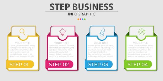 Bedrijf infographic ontwerpsjablonen