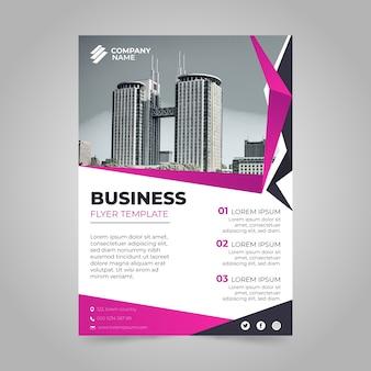 Bedrijf jaarlijks bedrijfsrapport met foto