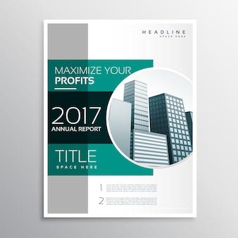 Bedrijf jaarverslag bedrijfs brochure ontwerp sjabloon