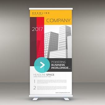 Bedrijf kleurrijke roll up banner template voor reclame