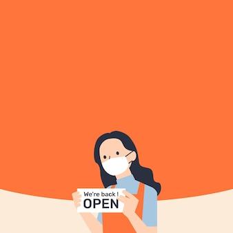 Bedrijf open na lockdown-achtergrond