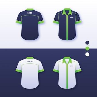 Bedrijf uniform shirtontwerp