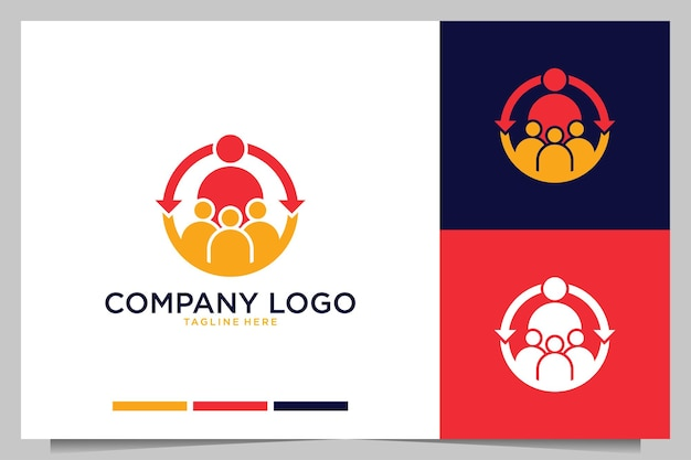 Bedrijf werkt samen logo-ontwerp