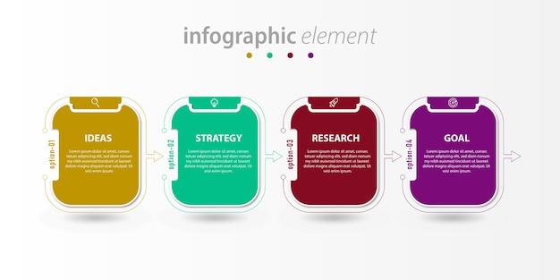 Bedrijf zakelijke infographic