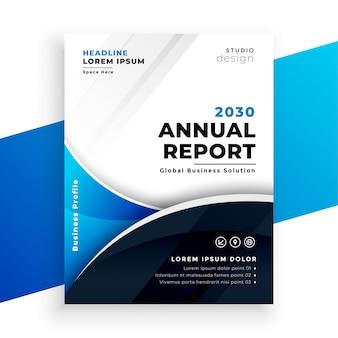 Bedrijf zakelijke jaarverslag brichure sjabloonontwerp