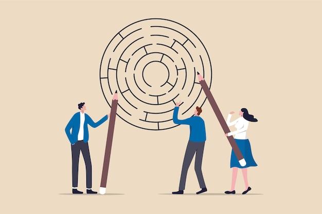 Bedrijfs brainstorm om oplossingsconcept te krijgen