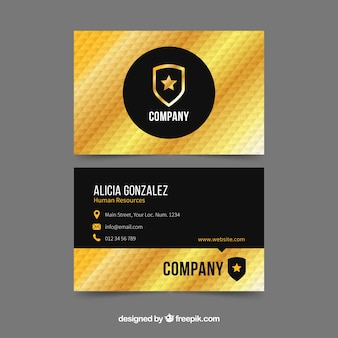 Bedrijfs gouden kaart