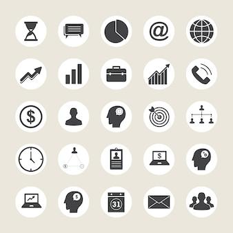 Bedrijfs iconen collectie