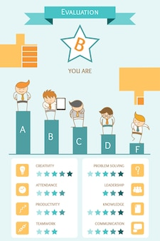 Bedrijfs infographic evaluatieconcept