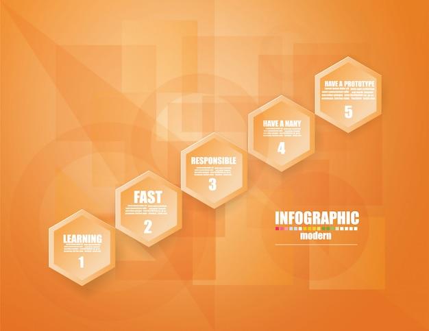 Bedrijfs infographic malplaatje het concept de tredestappen. stap op.