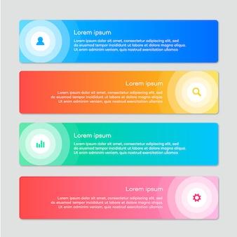 Bedrijfs infographic met cirkelvormig ontwerp