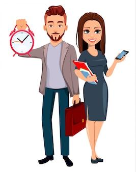 Bedrijfs man en zakelijke vrouw