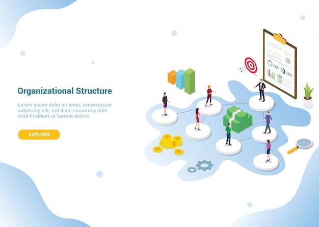 Bedrijfs- of organisatiestructuur voor websitesjabloon