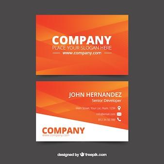 Bedrijfs oranje kaart
