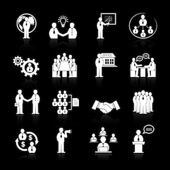 Bedrijfs pictogrammen collectie