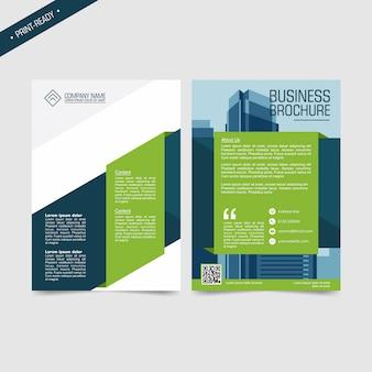Bedrijfs tweevoudig brochure of vliegerontwerp met ruimte voor fotoachtergrond