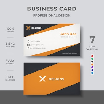 Bedrijfs visitekaartje