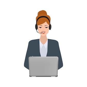 Bedrijfs vrouw in call centre