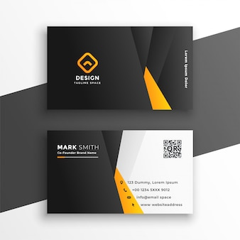 Bedrijfsadreskaartje in gele geometrische stijl