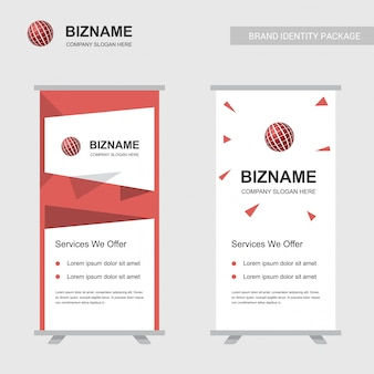 Bedrijfsadvertenties uniek ontwerp van de banner met ballogo