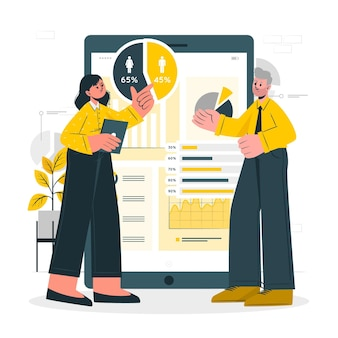 Bedrijfsanalyse concept illustratie