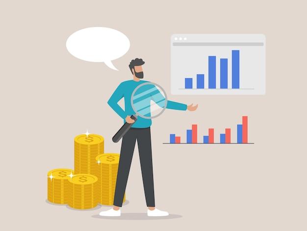 Bedrijfsanalyse financiële statistieken presentatie